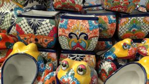 Talavera-Square-Pots-Multi-Colors-Frogs